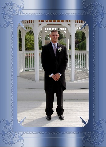 Groom at Gazebo at Valle Vista Banquet hall  Photo by American Wedding Photography  All Rights Reserved