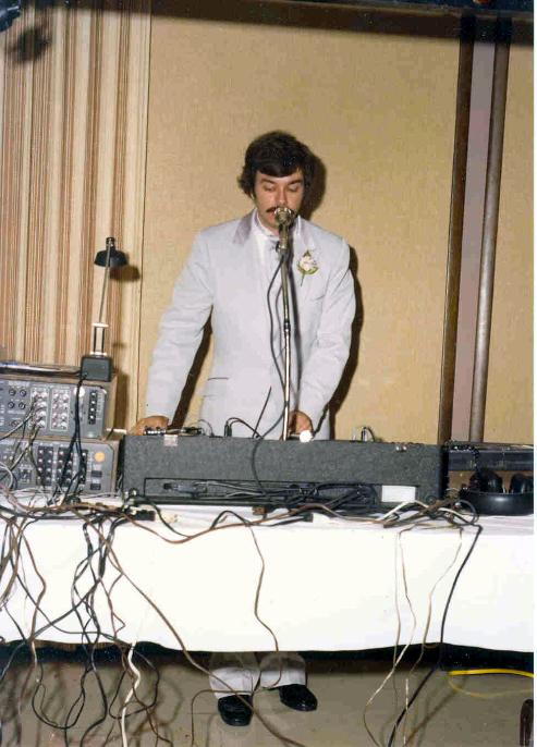 DJ Don Tilford Playing at a Wedding Reception with Full Sound and Lighting